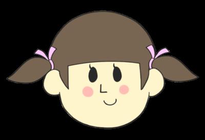 女の子の顔(笑顔)